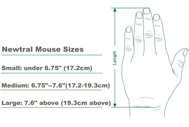 neutral mouse sizes